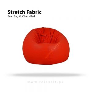 Relaxsit-Products-05, Stretch Fabric Bean Bag Xl Chair - Red, www.relaxsit.pk