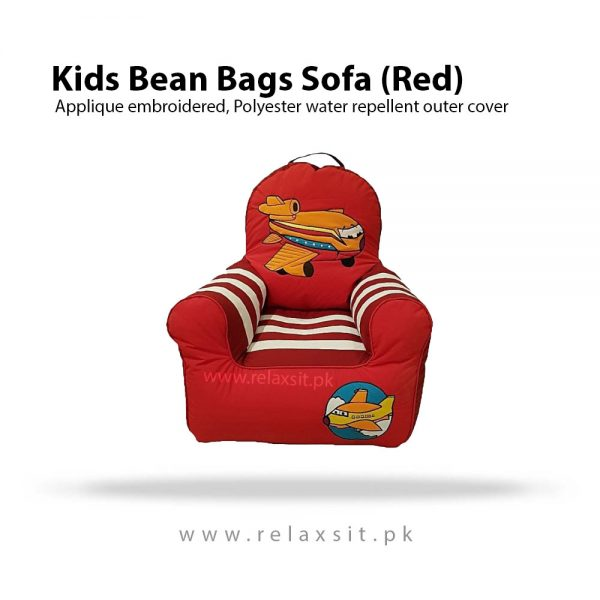 Relaxsit-Airplane Bean Bag Sofa For Kids - Red