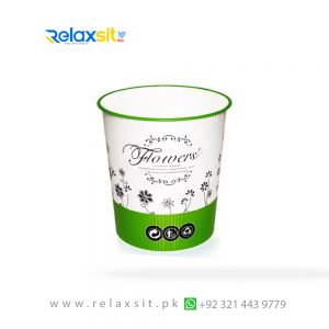 Dustbin DB08-Printed-New Look-Plastic Material (Pure)