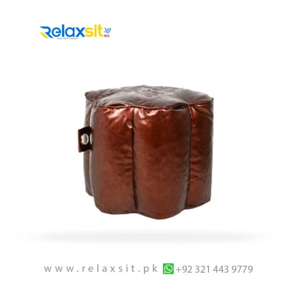 05-Relaxsit-Products-02 flower metallic leather bean bag stool