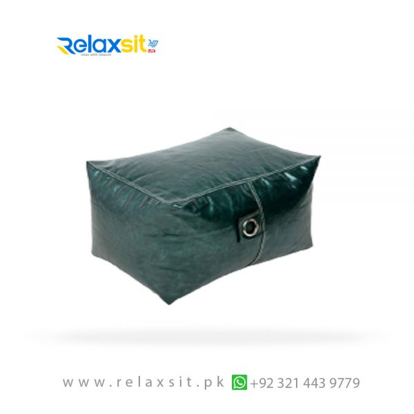 08-Relaxsit-Products-02 rectangle metallic leather bean bag stool