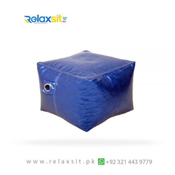 09-Relaxsit-Products-02 square metallic leather bean bag stool