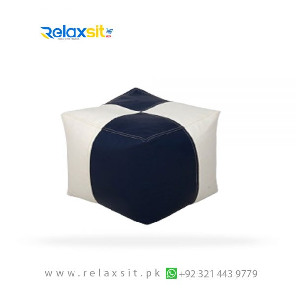 10-Relaxsit-Products-02 square shape leather bean bag stool