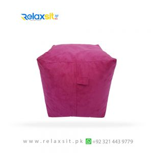 11-Relaxsit-Products-02 square shape suede leather foot bean bag stool